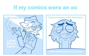 If my comics were an oc by SmokyJack