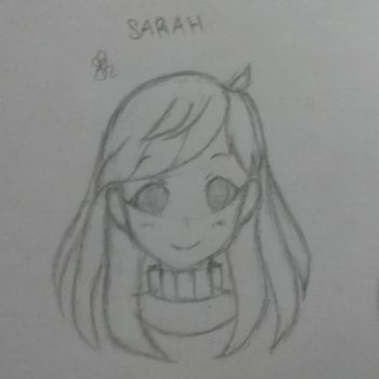 [OC] Sarah's Mini Headshot by AfiahSarah27