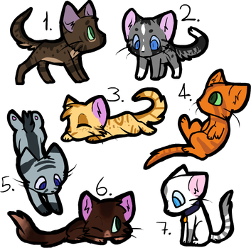 Cat Adopt Batch #1 (3/7) [OPEN] by Infinity--Adopts