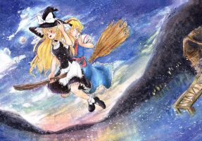 Riding on a Broom by mandygirl78