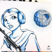 Star Wars Leia by nime080