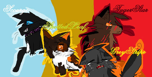 Four Of My Favorite Warrior Cats! by Ask-BrokenPaw