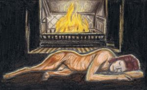 Diamond Dog at the fireplace by gagambo