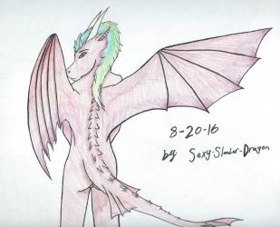 Red Dragoness by Sexy-Slender-Dragon
