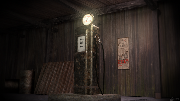 50's Old Gas Pump by nuvalis