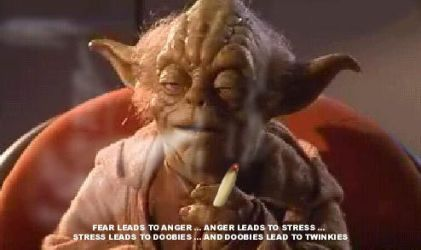 Yoda smoking weed by PointlessArtist