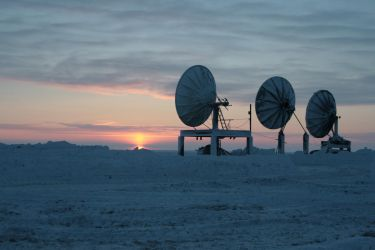 Arctic sat dishes 1 by Arctic-Stock