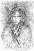Portrait of Dryad by JankaLateckova