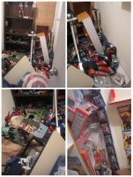 MY TOYS COLLECTION AFTER EARTHQUAKE by paintmarvels