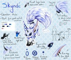 Skyndre reference sheet by bulciks