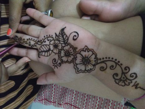 Mehendi design(Indian tradition). by Paulami9564