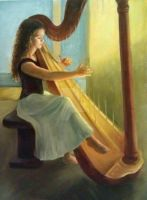 Harpist by vivi-the-great