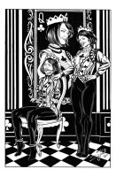 Queen of Club and Queen of Spades by DeanJuliette