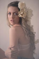 With Flowers in Her Hair by alyciacreative