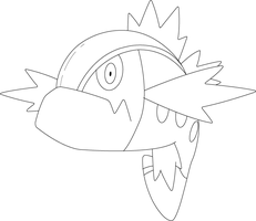 Lineart of Basculin with Red Striped