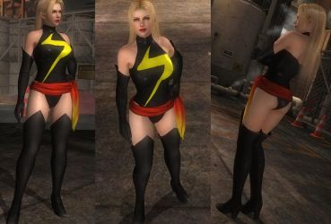 Ms. Marvel cosplay for Rachel (D/L) by fightfanz