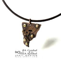 Drum Cymbal Necklace #105 by jphiijewelry