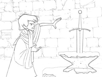 Sword-in-Stone Coloring Page 1 by Richard67915