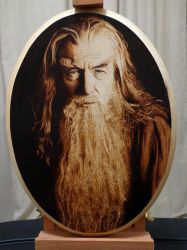 Gandalf The Gray, The Hobbit [Pyrography] by Rob31Art