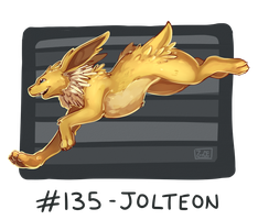 135 - Jolteon by oddsocket