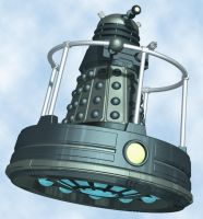Dalek on a Disc by Librarian-bot