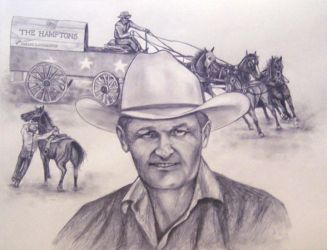 Dallas Dorchester Drawing by ShyloLove