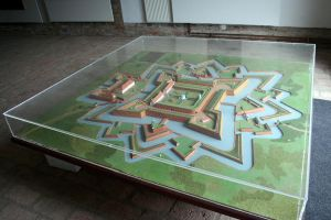 model of baroque fortress Brod by Sedeslav