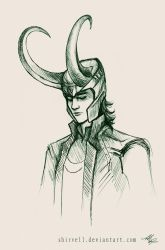 Sometimes you just have to draw Loki by Shirvell