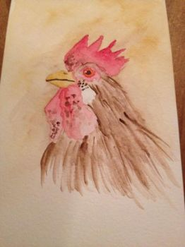 Chicken ACEO by jpnmaynard