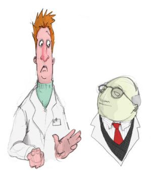 Professor Honeydew and Beaker by derekgowland
