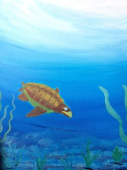 Turtle painting by F00000d