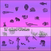 26 animal brushes by Johhy