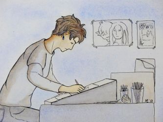 Artist at Work by Hestia-Edwards