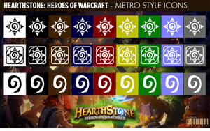 Hearthstone:Heroes of Warcraft - Metro Style Icons by xmilek