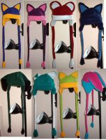 8 fleece animal hats by malytwotails
