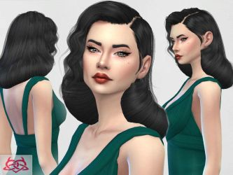 [MMD] Dita Von Teese Hair (+DL) by AppleWaterSugar