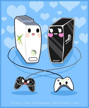 Tokidoki XBox and Playstation by Nko-ennekappao