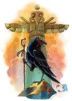 Raven totem by Dr-Stain