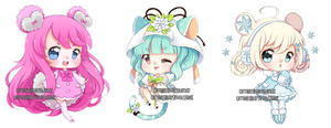 [C] Experimental Chibis 2 by Cottoneeh