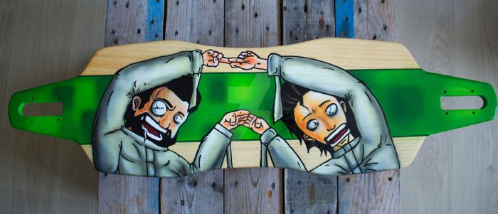 Longboarddeck - Let's play together! by buntUNDkreativ