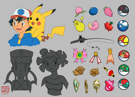Pokemon Sketchdump 04 by Ahkward