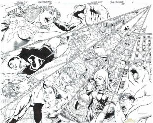 TEEN TITANS 88 Pgs 2/3 Awesome DBL-PG SPREAD by DRHazlewood