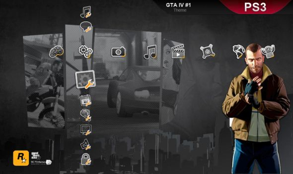GTA IV, PS3 theme by M23creations