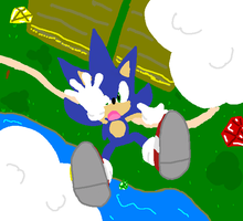 Sonic falling - fanfic art 1 by mitchika2