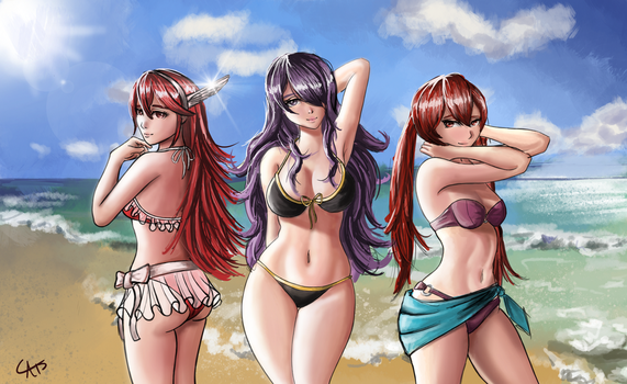 Summer Girls - Caeldori, Camilla, and Selena by itftjte