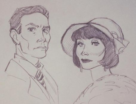 Jack and Phryne by clwnprincessofcrime