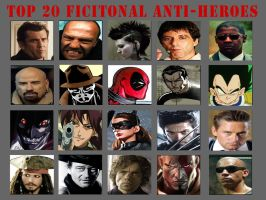 Top 20 Anti-Heroes by MyNameIsArchie