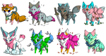 Adopts: Cheap Cute Little Foxes [6/8 OPEN] by GypsySoulx
