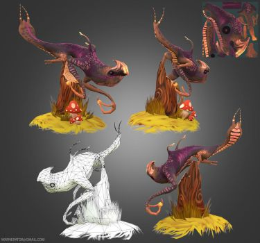 Poison Newt Low Poly by Bawarner