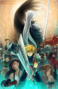 Final Fantasy VII by kidoairaku